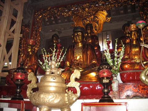 Giải thích hệ thống tượng Phật ở trong Chùa