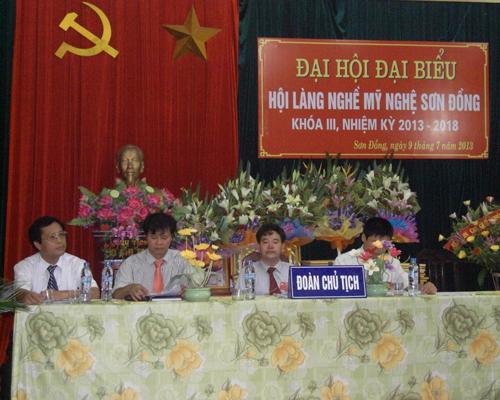 Đại hội đại biểu hội làng nghề mỹ nghệ xã Sơn Đồng khóa III