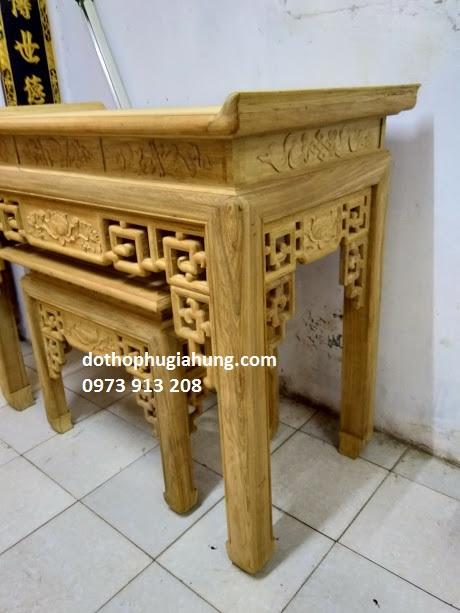 bàn thờ hiện đại triện sen